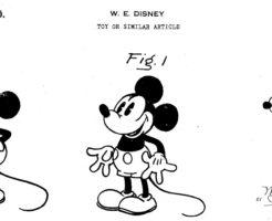 ミッキーマウスのデザインパテント USPTOより